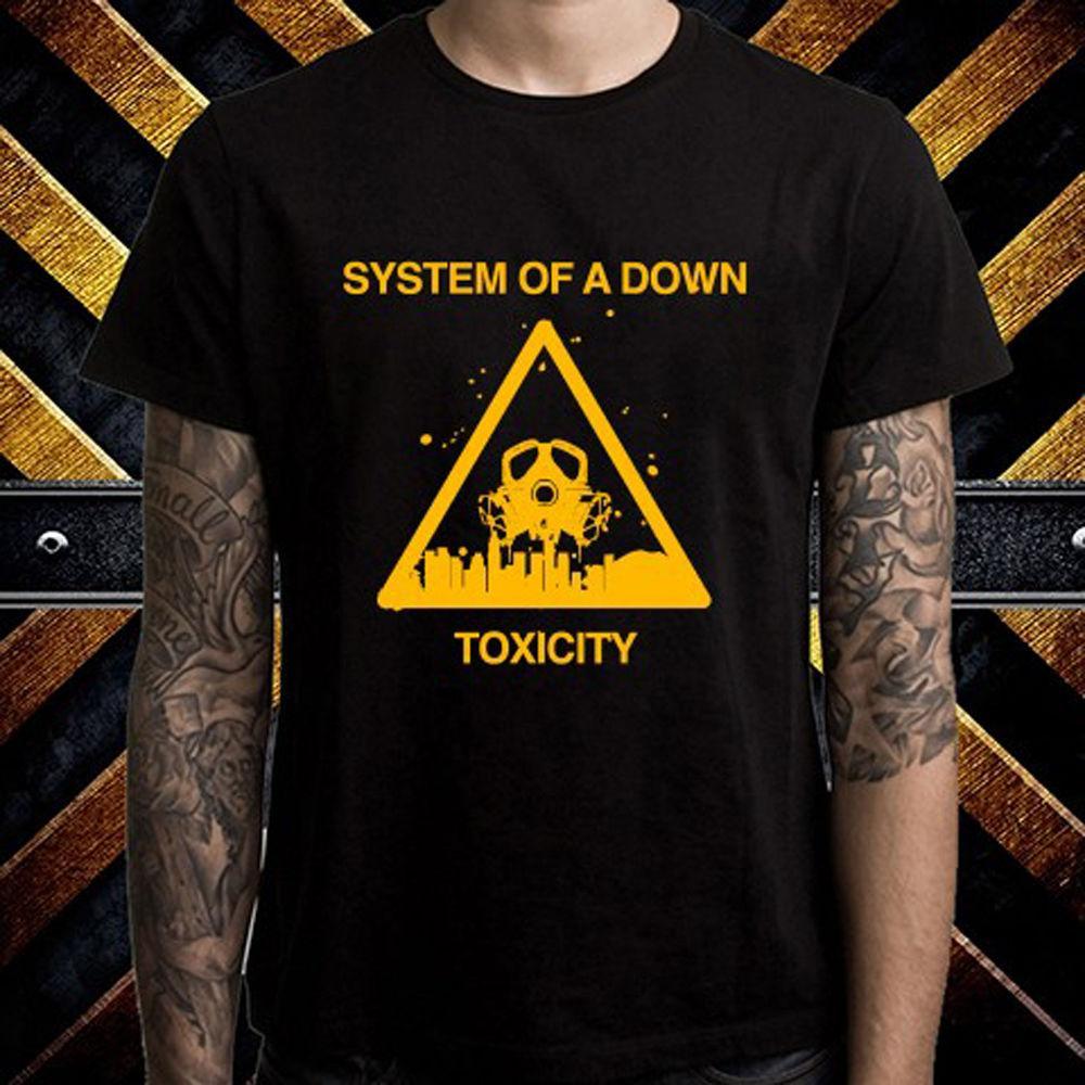 c1c7d04a0d735 Compre SOAD System Of A Down Toxicity Rock Band Camiseta Negra Para Hombres  Talla S A 3XL Chaqueta De Cuero De Croacia A  11.83 Del Blackcup