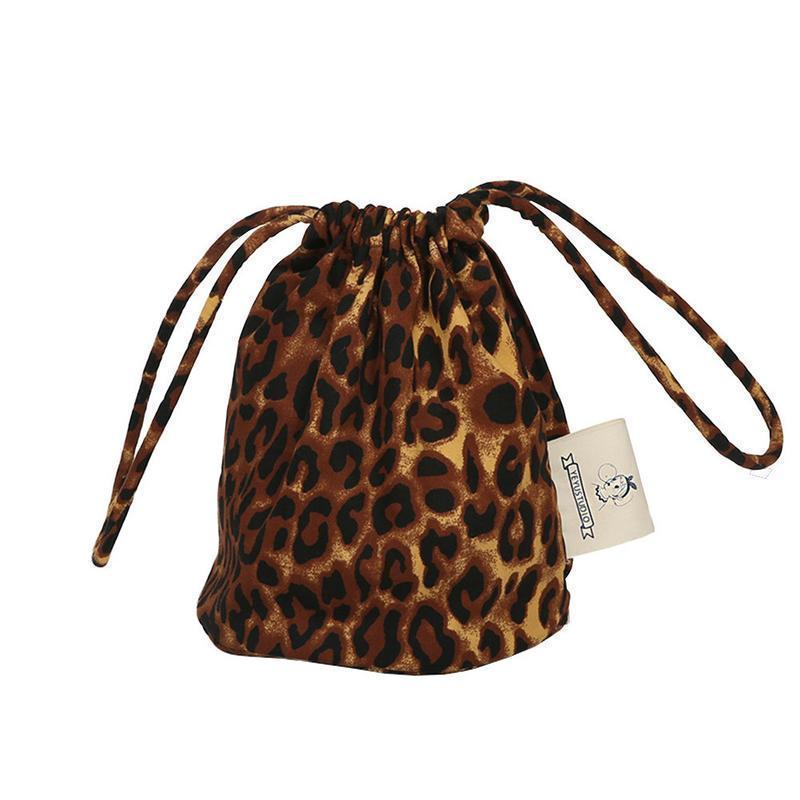 Fashion Leopard Print Messenger Bucket Bag Shoulder Crossbody Shopping Handbag Hand Bag Tote Canvas Handbags Women Bags Purses