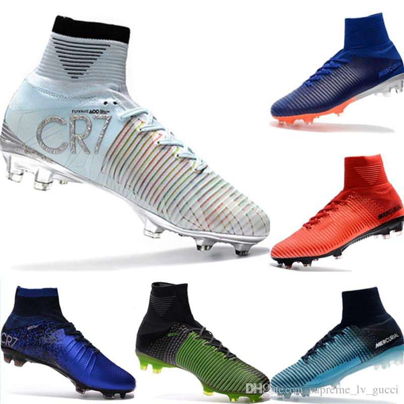 a303c95e5c1 2019 Mercurial CR7 Superfly FG Kids Football Boots Magista Obra 2 Youth  Soccer Cleats Cristiano Ronaldo 35 45 Sneakers For Children Cute Tennis  Shoes From ...