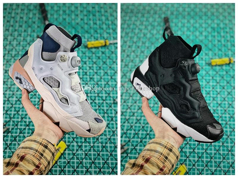 1100973015b58 2019 New Vetements Instapump Fury Monogram OG Trainers for Men s Monogram  Sneakers Womens Sports Shoes Runn grey black ing shoes