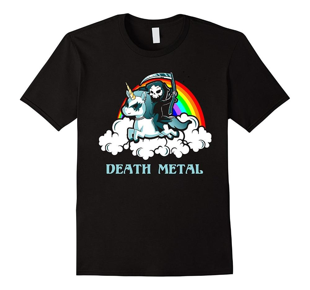 Death Metal Rocker Go To Hell shirt dos desenhos animados Imprimir transporte shirt queda de manga curta T
