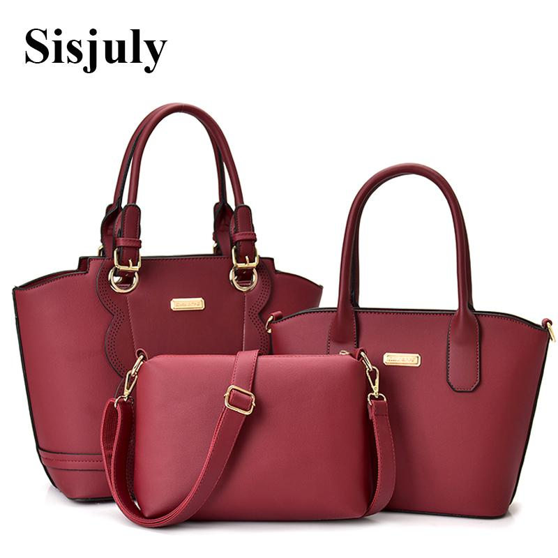 Sisjuly 2019 New Brand Composite Bags for Women Leather Handbag Women Big  Crossbody Bag Purse Shoulder Bag Female Sac Top-Handle Bags Cheap  Top-Handle Bags ... fe3faf4b6f