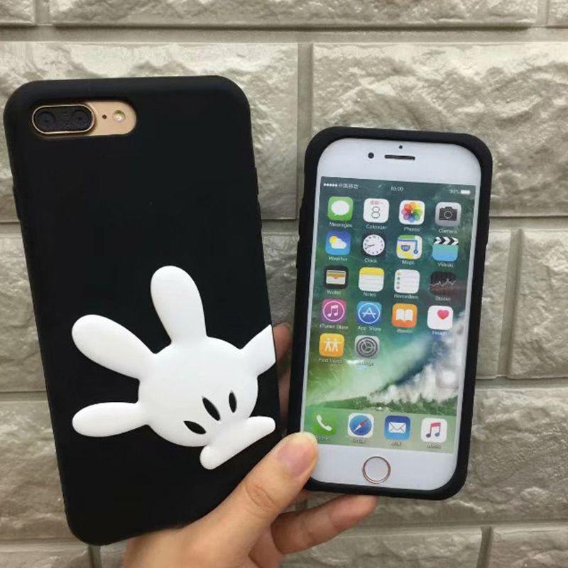 one piece designer phone cases cute cartoon bow knots hands fashion