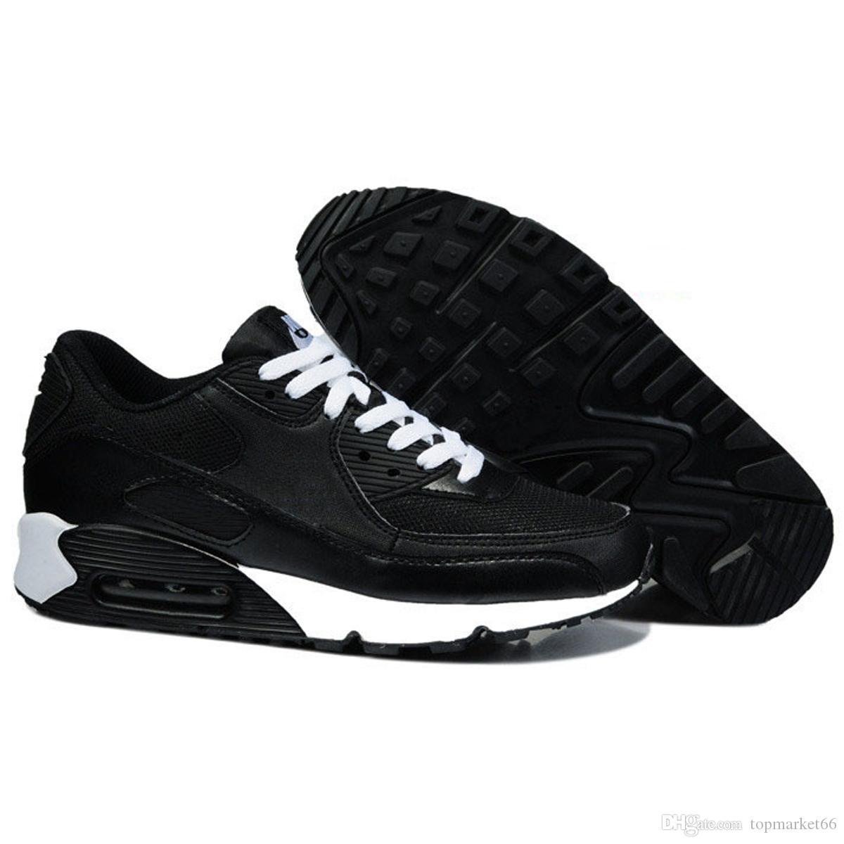 2018 buenos hombres baratos, Nike Air Max 90 zapatos para correr, zapatos de entrenamiento baratos, moda al por mayor, zapatos para correr, zapatillas