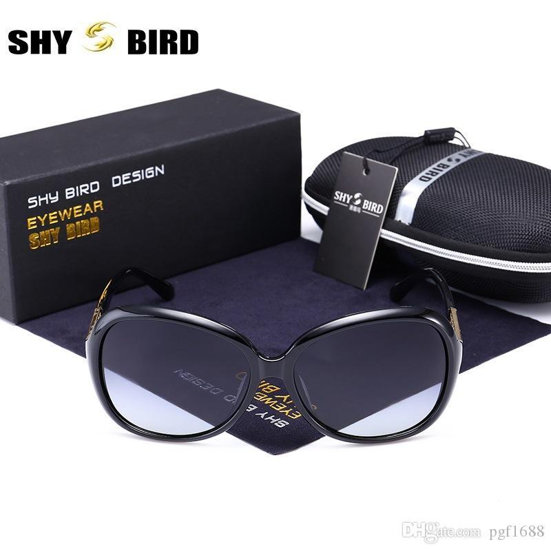 58dd20e2ef Compre SHYBIRD Nuevas Gafas De Sol Polarizadas Para Mujeres Diseñador De La Marca  Moda Clásica Gafas De Sol Retro Marco De Metal Deporte Al Aire Libre Gafas  ...