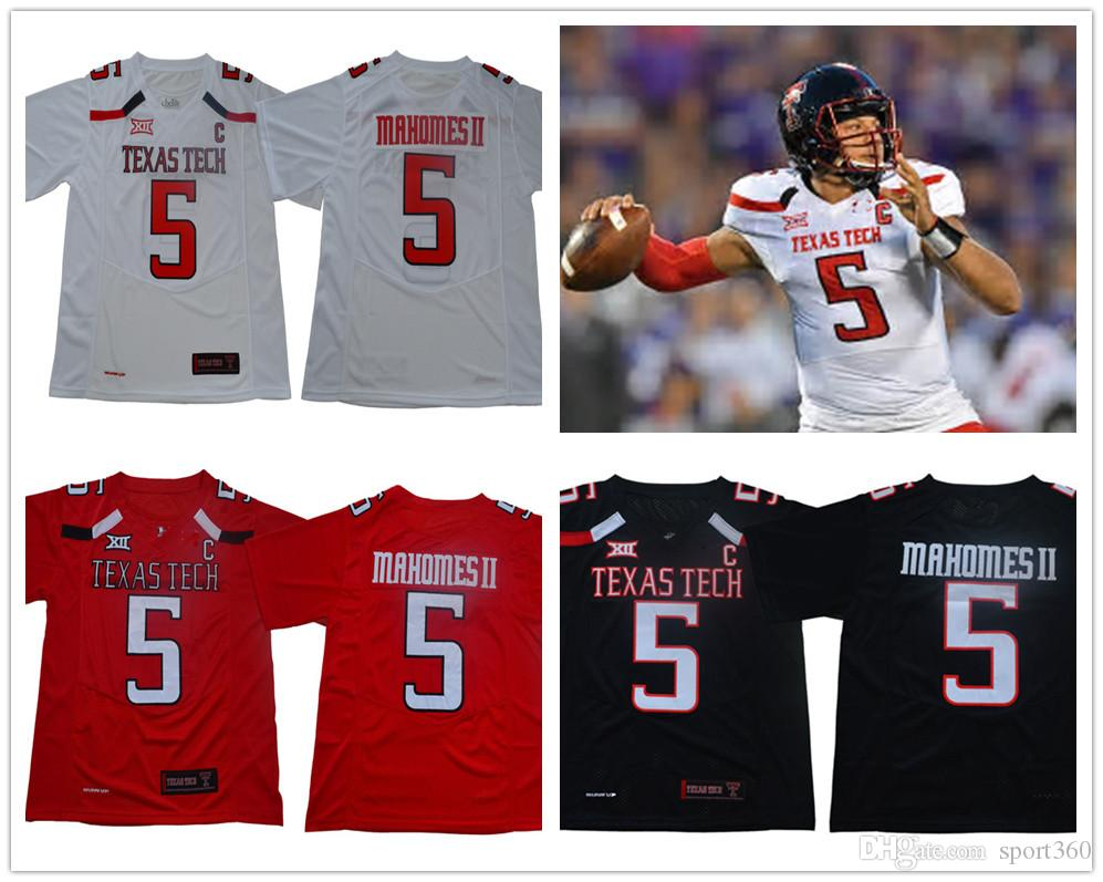 7ffebc62ab0 2019 NCAA Texas Tech #5 Patrick Mahomes II Black 2018 KC #15 Jersey TTU Red  Raiders Michael Crabtree College Football White Kansas City Jerseys From ...