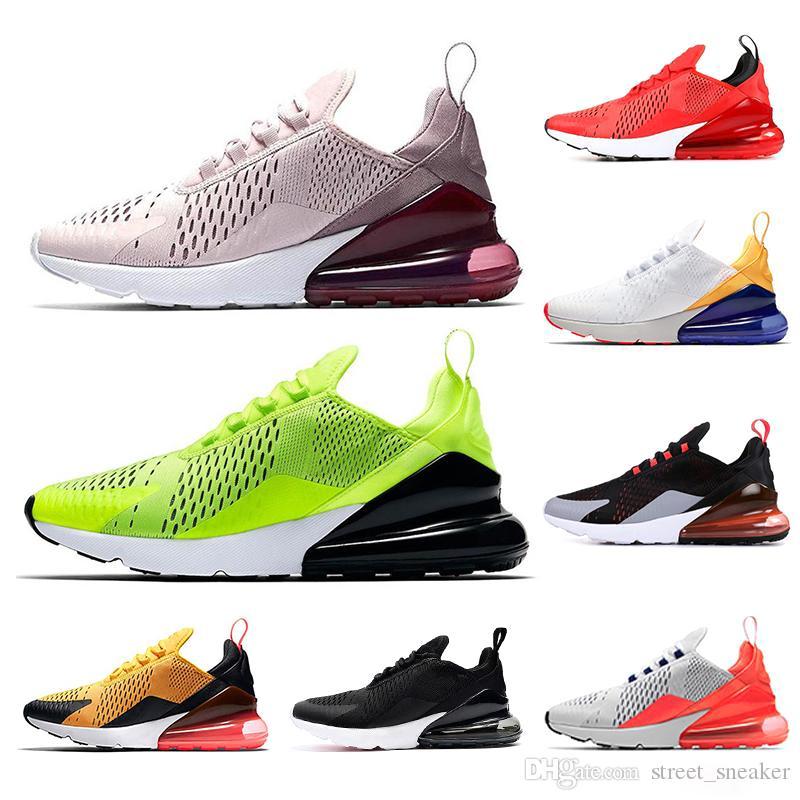new arrival 4d206 1ce48 Scarpe Calcetto 270 Cushion Running Shoes Uomo Donna Triple White Black  Volt Ocean Bliss Total Be True Trainers Designer 270s Sneakers Sportive 36  45 Scarpe ...
