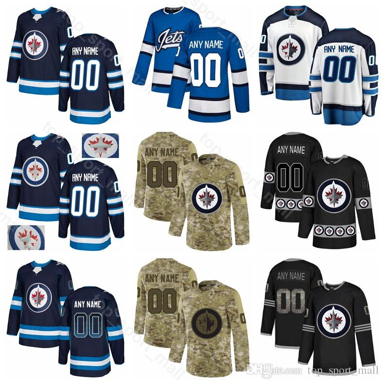 Winnipeg Jets Hockey sobre hielo Bryan Little Jersey Dustin Byfuglien Josh Morrissey Brandon Tanev Mathieu Perreault Mark Scheifele Sequin Custom