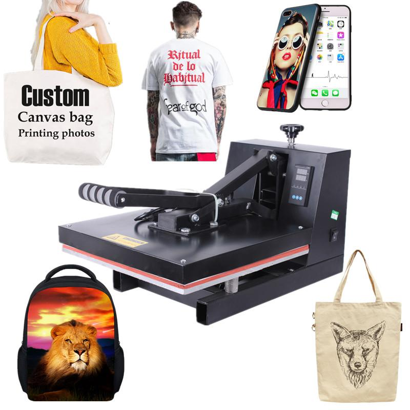 RB-YW38 High Pressure 38x38CM T-shirt Heat Press Machine Sublimation Transfer Printer for Bag Case Puzzle Glass Wood Rock Photo