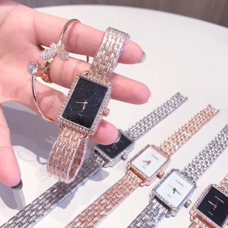 1f8af59cc159 Compre Pulsera De Marca Relojes De Lujo Para Mujer Relojes De Pulsera De  Acero Y Diamantes Cha Vestido Para Mujer Rectángulos Relojes De Cuarzo Reloj  Nel ...