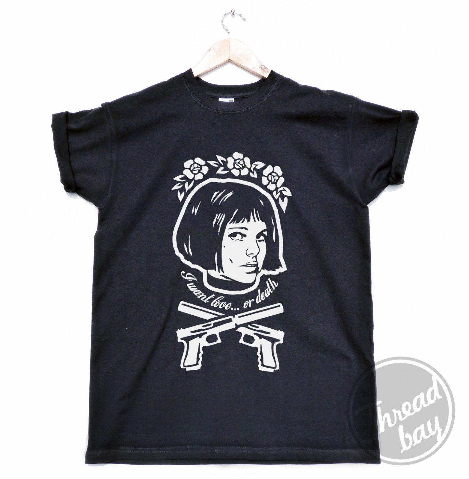 ef42f997 Leon The Professional T SHIRT Natalie Portman Mathilda Movie Film MENS CUT  Funny Unisex Casual Tshirt Shirts T Funky T Shirts For Women From  Thebestore, ...