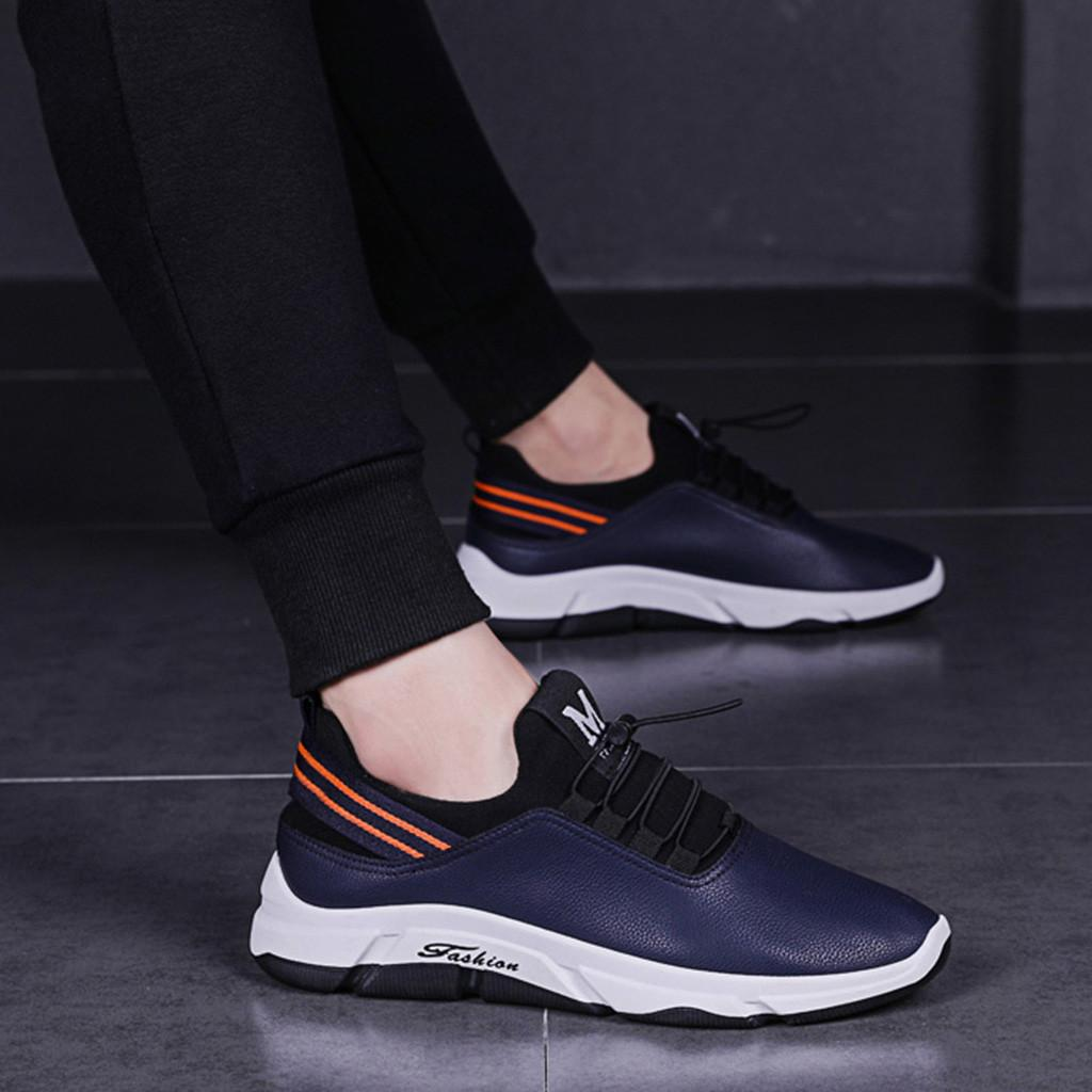 ce07412b441d8 Brand Hot Sale Shoes Men Spring And Autumn PU Leather Male Adult Lace Up Breathable  Fashion Mens Casual Sneakers Jan24 Shoes For Women Dansko Shoes From ...