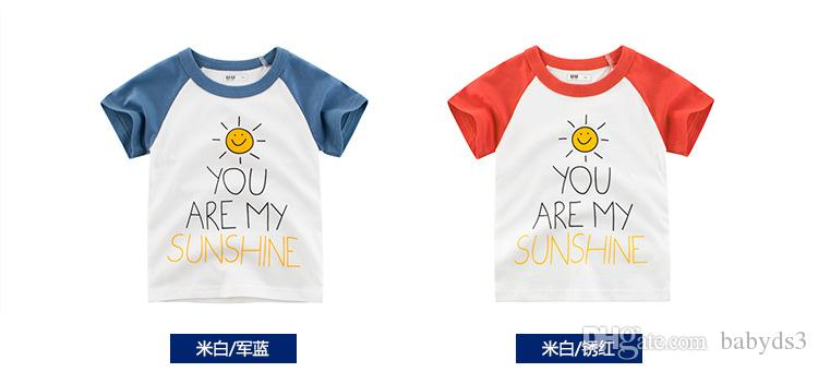 18c629bdf 27 Kids T Shirts Wholesale Children'S Wear In The Summer Of 2019 ...
