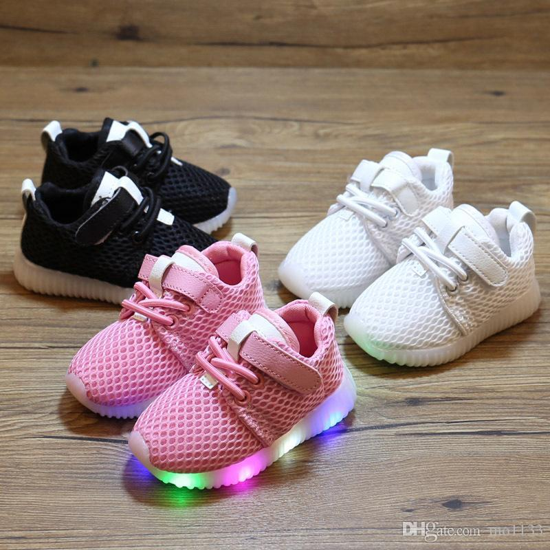 e07594fd370e 2019 Children S Net Shoes 2018 New Baby Toddler Soft Bottom ...