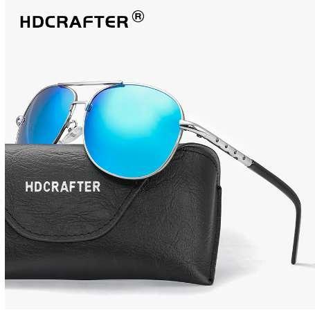 5cc7dbce43 HDCRAFTER Classic Mens Sunglasses Men Retro Vintage Polarized Pilot  Sunglasses Men Polarized Uv400 High Quality Driving Glasses Heart Sunglasses  Circle ...