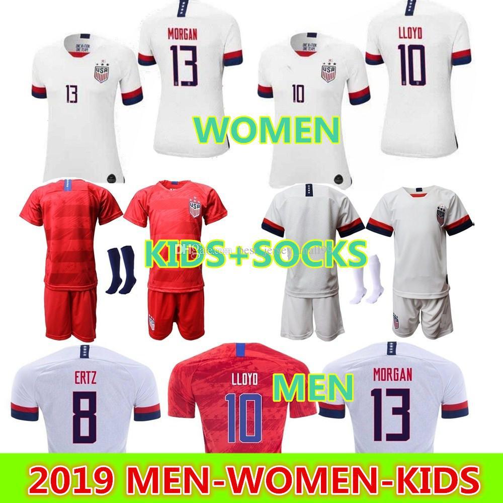 best loved 5e553 20432 13 Alex Morgan Jersey Soccer 8 Julie Ertz 10 Carli Lloyd Lady Crystal Dunn  Rapinoe Harris Heath Football Shirt