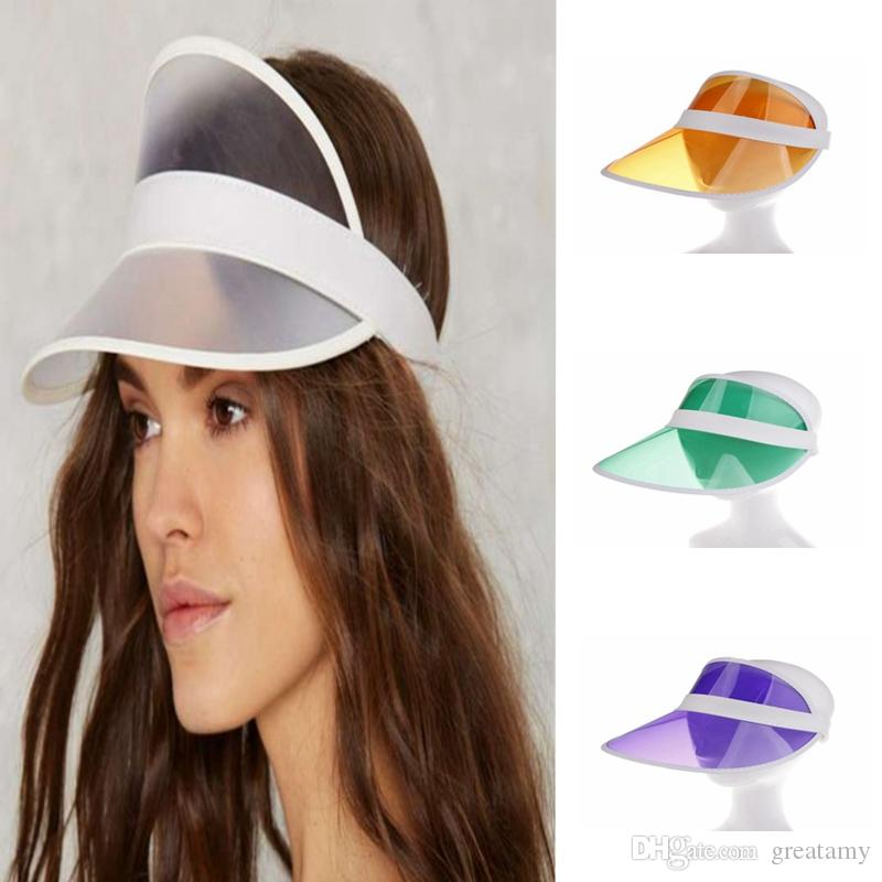 Compre es Nuevo PVC Plástico Sombrero Para El Sol Primavera Verano Gorra De  Béisbol Transparente Hombres Mujeres Unisex Sombreros De Moda Al Aire Libre  A ... 8f870aaa349