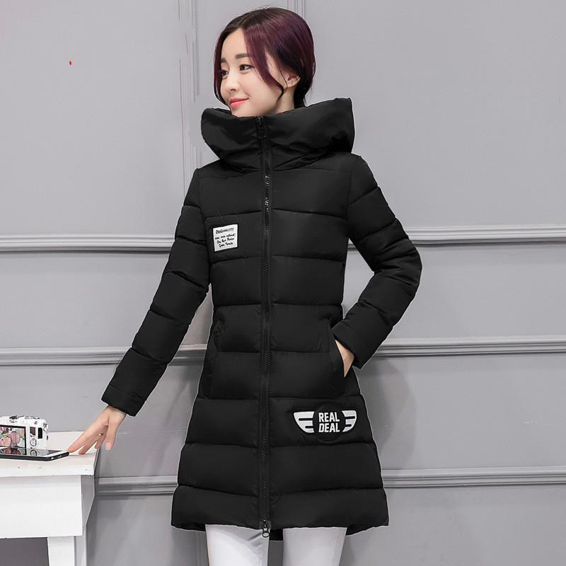 f162e2513 Winter new down cotton-padded jacket women s long - style Korean version of  thin women s padded heavy student jacket