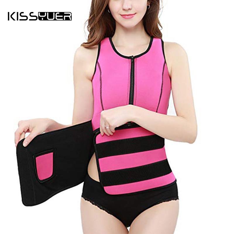 8b8b54d9c4 Women Neoprene Hot Sweat Sauna Suit Vest Waist Trainer Body Shaper ...