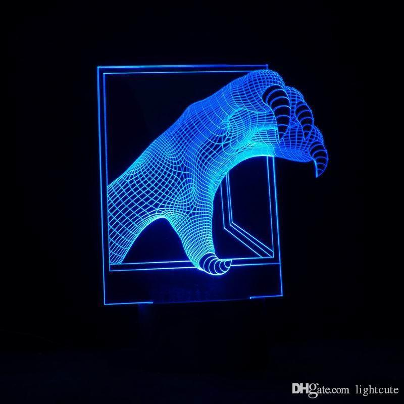 3D Illusion LED Night Lamp with Dragon Claw Shape ABS LED Bulb as Holiday Decoration desk lamp