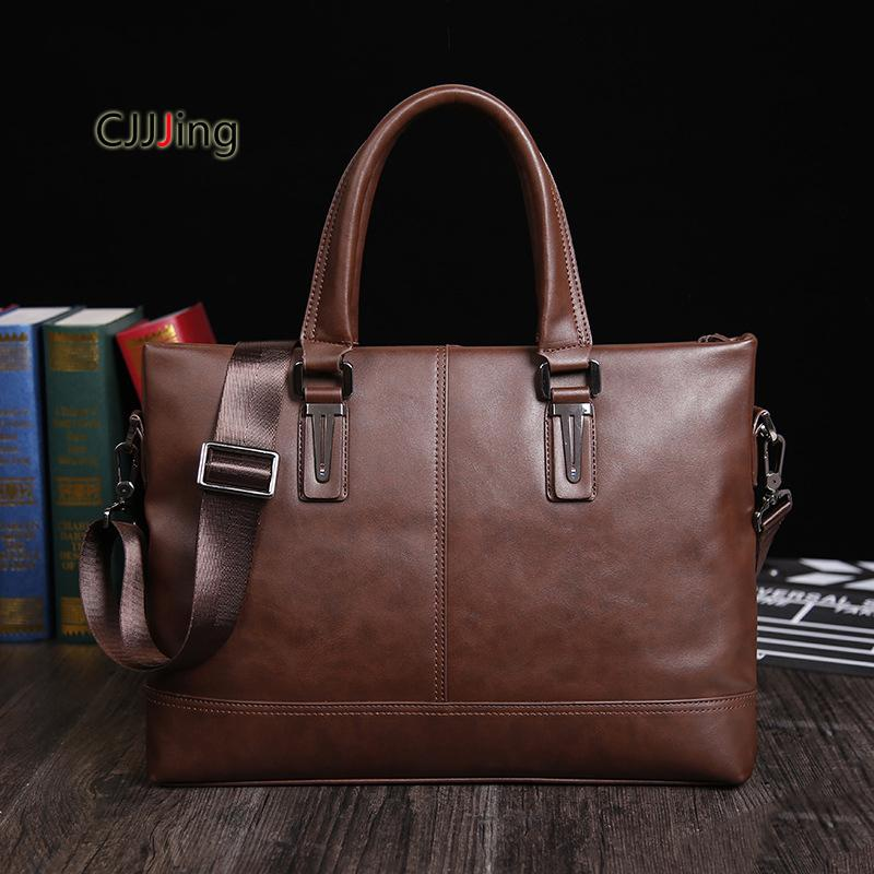 f33f02acf7 Men Business Handbags Messenger Case Shoulder Crossbody Bag Mens ...