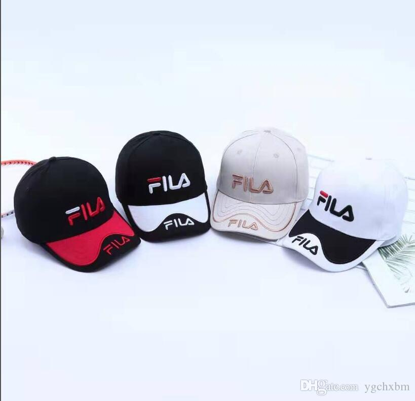 de76cd84 2019 KLIU New Style Bone FILA Curved Visor Casquette Baseball Cap ...