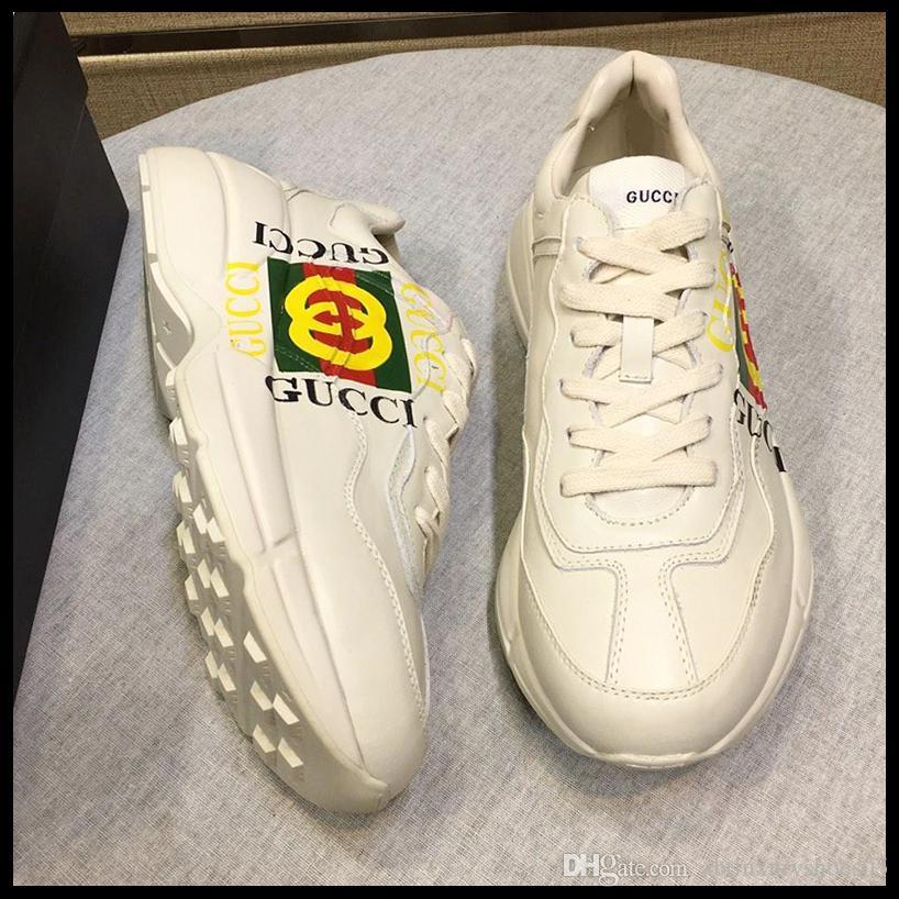 44db0de6 Compre Zapatillas De Deporte De Las Mujeres Del Verano Zapatos De Las  Señoras Suela Suave Transpirable Para Mujer Moda Calzado Rhyton Sneaker De  Cuero Venta ...