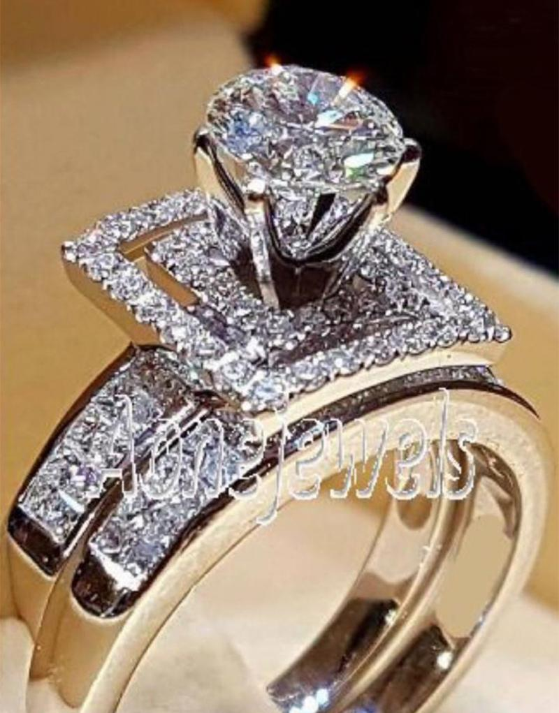 739f391442 2019 Wedding 100% Moissanite Diamond Ring Genuine 18K 750 White Gold D  Color VVS MO 007 From Xiacao, $1217.35 | DHgate.Com