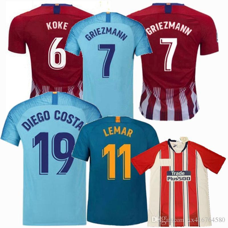f8a0af26c92c4 GRIEZMANN 18 19 20 Camiseta De Fútbol De KOKE CORREA SAUL MADRID Fernando  AWAY INICIO ROJO DIEGO COSTA GODIN ATLETICO MUJER 2019 Camiseta De Fútbol  Por ...