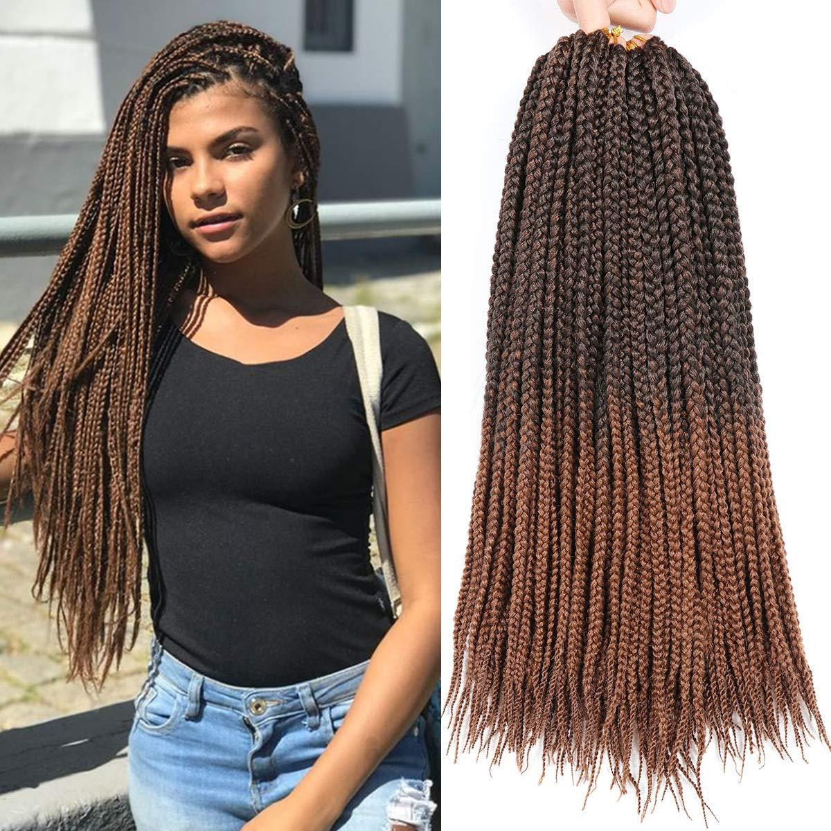 "18""Crochet Box Braids Hair Extensions Jumbo Box Braiding Hair Synthetic Crochet Braids Kanekalon Jumpo Braiding Hair 20 Strands/pack"