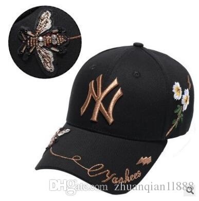 a8e7dac9128 New NY Bee Baseball Cap MLB Cap Yellow Label Yankees Hat Foreign ...