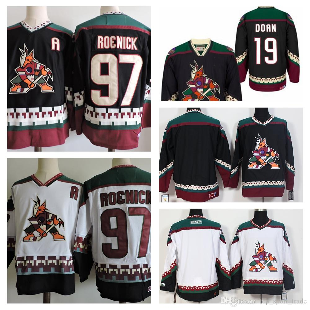 2019 1998 CCM Vintage Mens  19 Shane Doan Jersey Phoenix Coyotes  97 Jeremy  Roenick Jersey Stitched Blank Ice Hockey Jerseys Best Quality From ... 70aaf8ad3