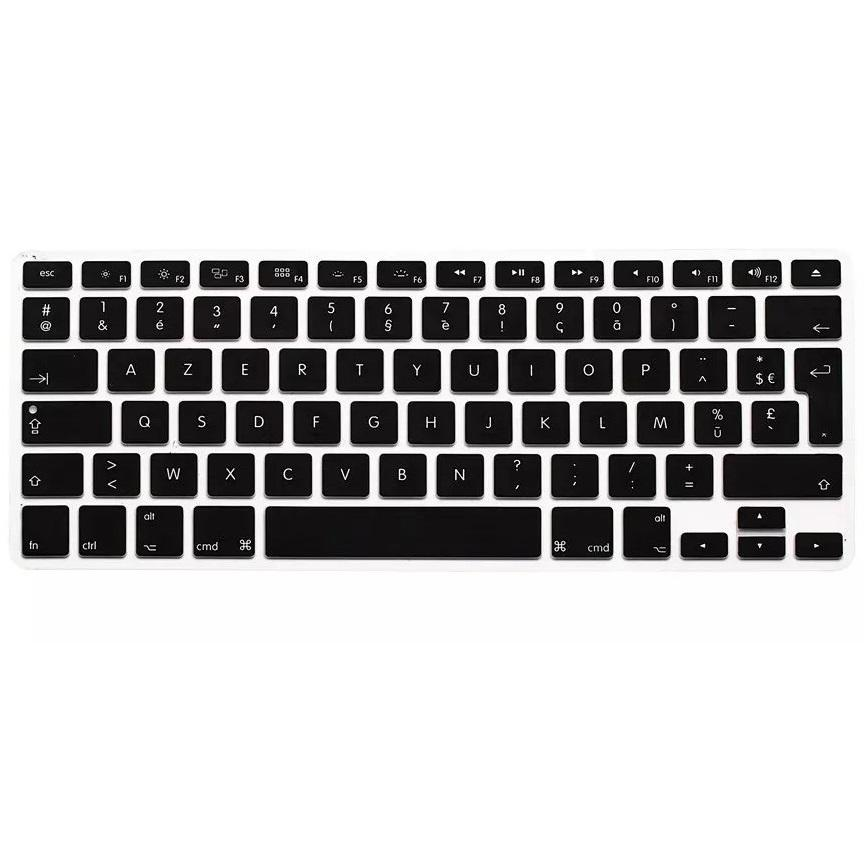 For Macbook Air Pro Retina 13 15 Keyboard Cover 1Pcs Eu Euro Azerty French Silicone For Imac Keyboard Skin Protector