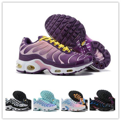 Nike Baskets Air Max TN Plus Chaussures de Course femme Vert blanc
