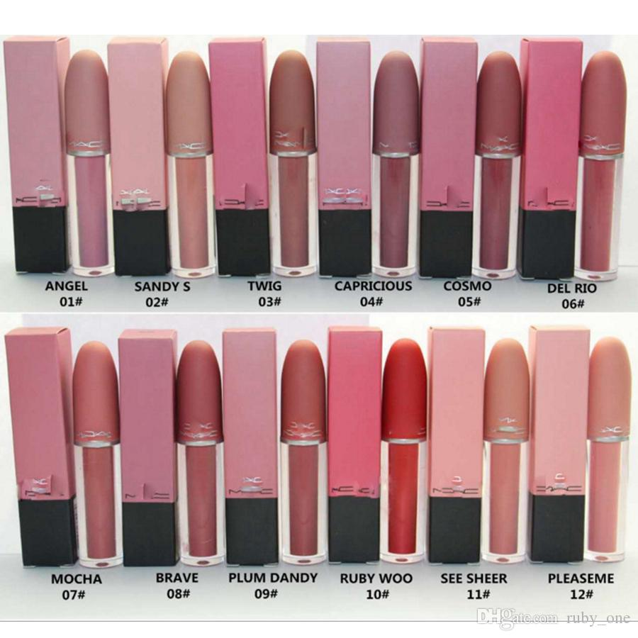 Liquid Matte Lip Gloss Lipstick Professional Makeup Lasting Lipgloss Lipsticks Make Up Tools 12 Colors RRA1153