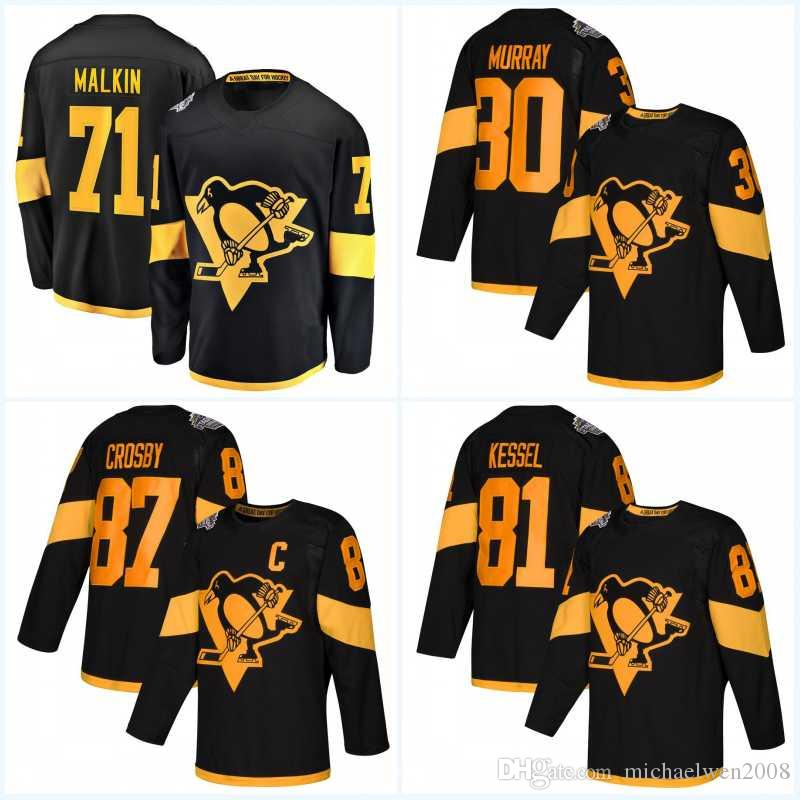 buy popular 2d2d4 bf87e 87 Sidney Crosby Men 2019 Stadium Series Jerseys 71 Evgeni Malkin 1 Casey  DeSmith 30 Matt Murray 58 Kris Letang Hockey Jerseys