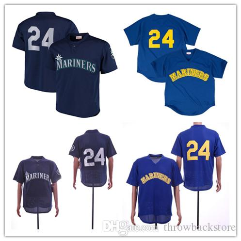 finest selection ac87b 85311 Men s Mariners Ken Griffey Jr. Jersey Mitchell & Ness Navy Royal  Cooperstown Collection Mesh Batting Practice Baseball Jerseys