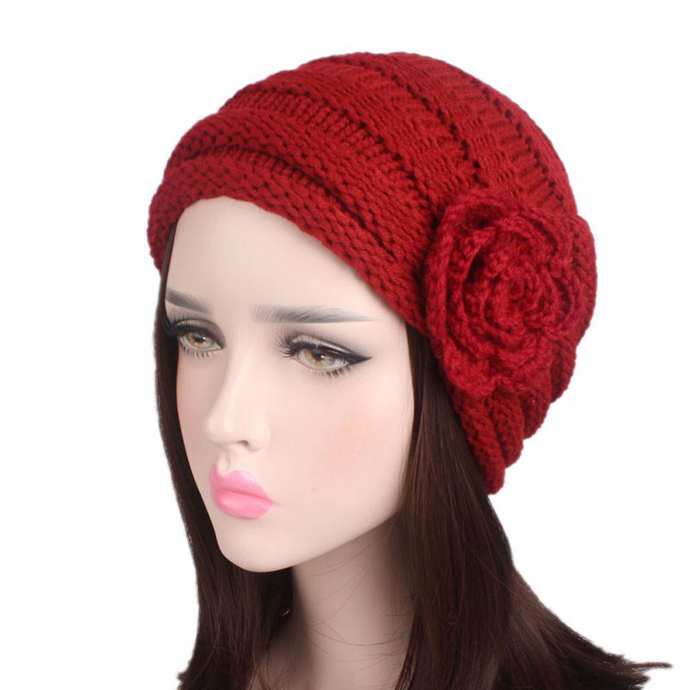 018 NEW Fashion Women Ladies Winter Knitting Hat Turban Brim Hat Fitted  Pile Cap Dropshipper Solid   Nov29 Black Baseball Cap Knitted Hats From  Watcheshomie ... 3d8c9dc0716