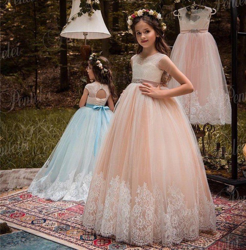 New Style Princess Pageant Flower Girl Dress Kids Wedding Party Birthday Bridesmaid Tutu Children Ball Gown Gna54