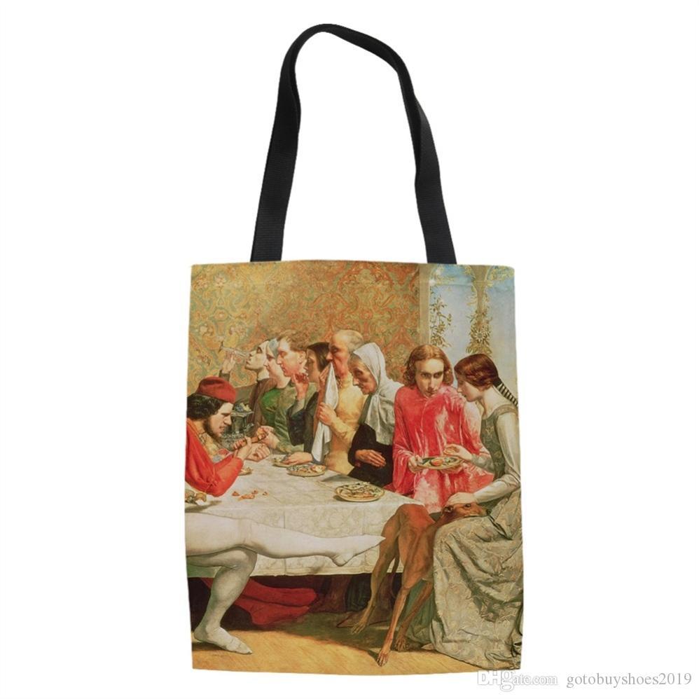 db421cd22101d Großhandel Berühmte Malerei Einkaufstaschen Reise Benutzerdefinierte ...