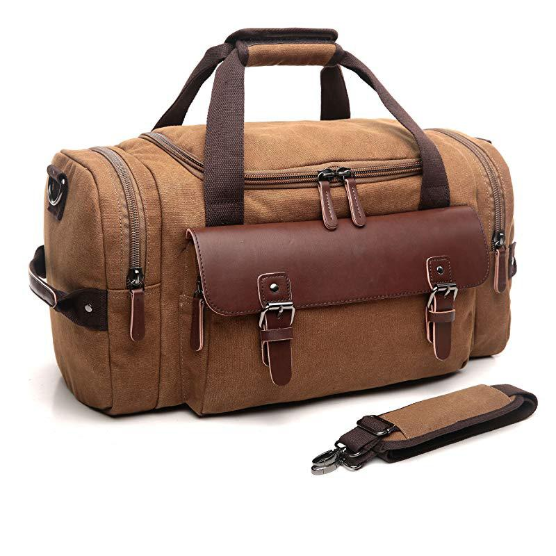 Canvas Multifunctional Duffle Bag For Men Women Leather Overnight Bag Travel  Carry On Duffel Sports Weekend Tote Bags Rolling Backpack Weekend Bags From  ... 1c45b8f4d9c30