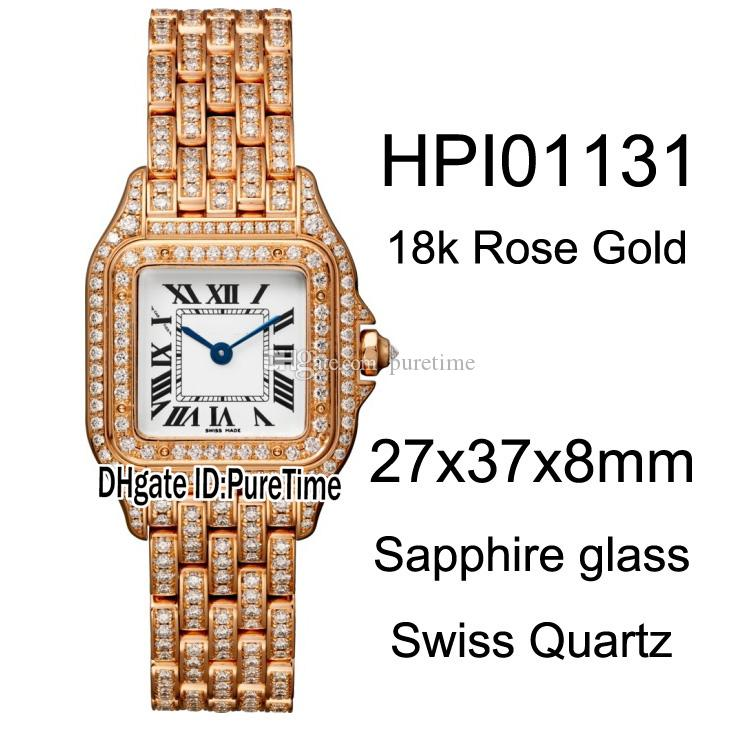 717af5d50bf6 New 27mm HPI01131 18K Rose Gold Steel Case Diamond White Dial Roma Mark  Swiss Quartz Womens Watch Diamond Bracelet Ladies Watches B26 C3 Shop  Watches Online ...