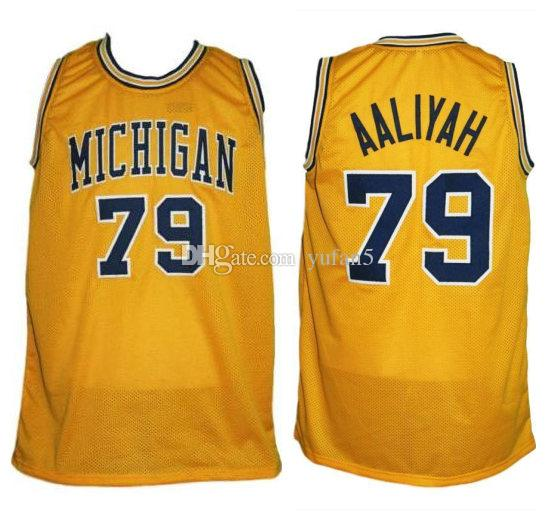 663382170e3e 2019  79 Aaliyah Michigan Wolverines College Retro Classic Basketball Jersey  Mens Stitched Custom Number And Name Jerseys From Yufan5