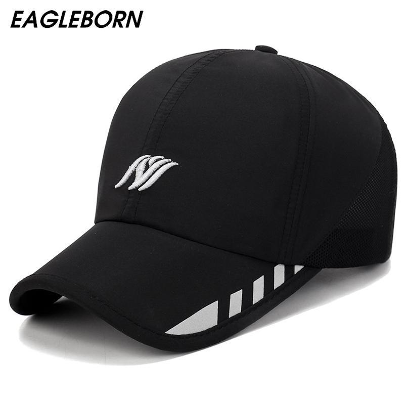 c66c70b9deb71 2019 EAGLEBORN Baseball Cap Mens Hat Spring Custom Hats Snapback Cowboy Man  Black Brand 2018 New Designer Luxury Brand From Sportblue