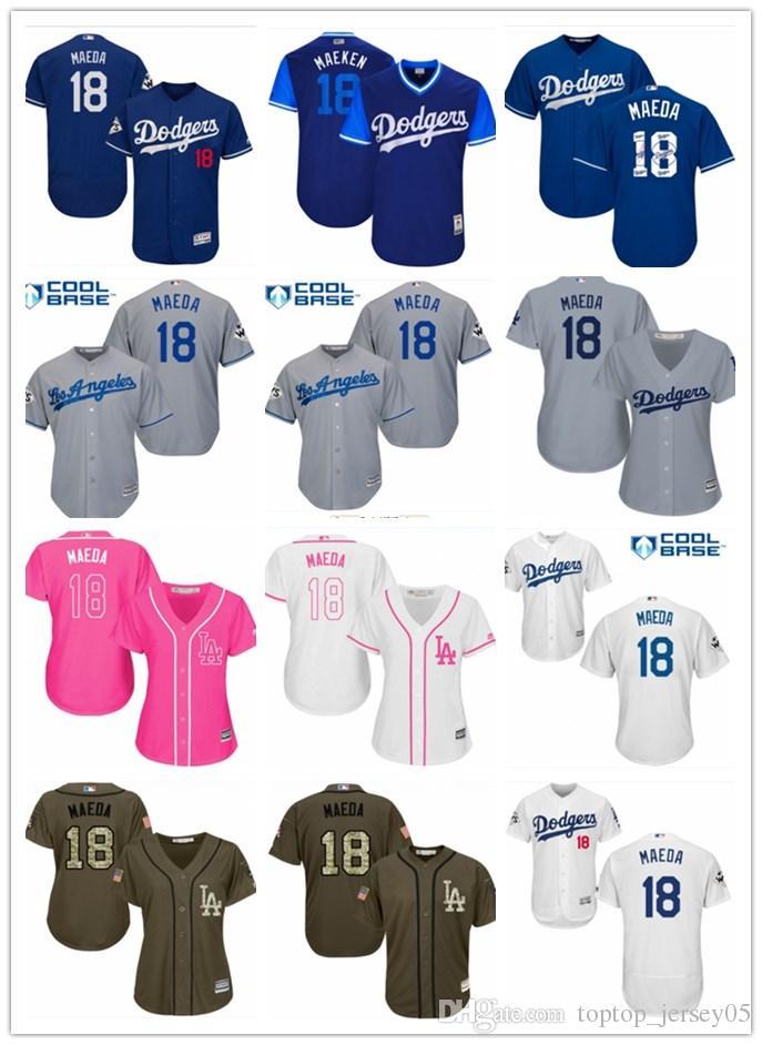 the best attitude 83344 1817a 2018 top Los Angeles Dodgers Jerseys #18 Kenta Maeda Jerseys  men#WOMEN#YOUTH#Men s Baseball Jersey Majestic Stitched Professional  sportswear