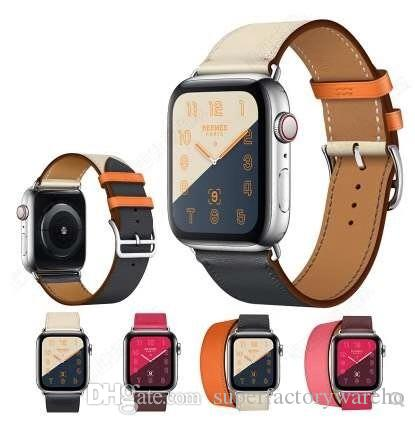 0ea7ad87f9c For Apple Watch Band Series 4 Replacement Watchband Wrist Band Luxury  Designer Brand Leather Straps With Adapter Iwatch Bands 38 40 42 44 Mm Leather  Strap ...