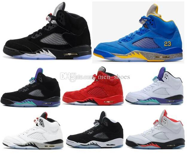 new product 4b334 988be High Quality 5 5s Black Metallic 3M Reflect Black Grape Oreo Basketball  Shoes Men 5s Red Suede CDP White Cement Sneakers With Box Men Basketball  Shoes ...