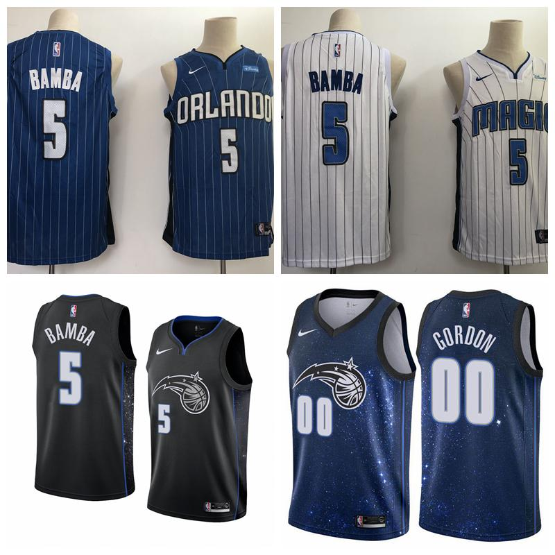 4564cf6c4ad 2019 New Mens Magic 5 Mohamed Bamba Basketball Jerseys Stitched ...