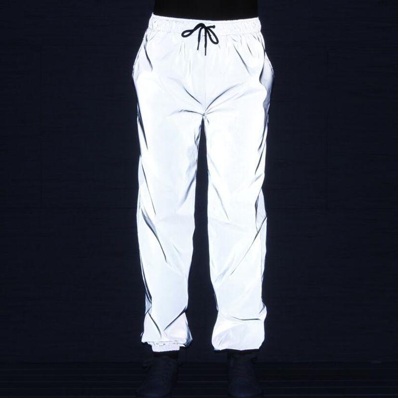 c14fa9da550ba Compre Corredores Hombres Hip Hop Pantalones Reflectantes Modis Sweatpants  Hombre Streetwear Pantalones Luz De Noche Pantalones Largos Pantalones  Hombre A ...