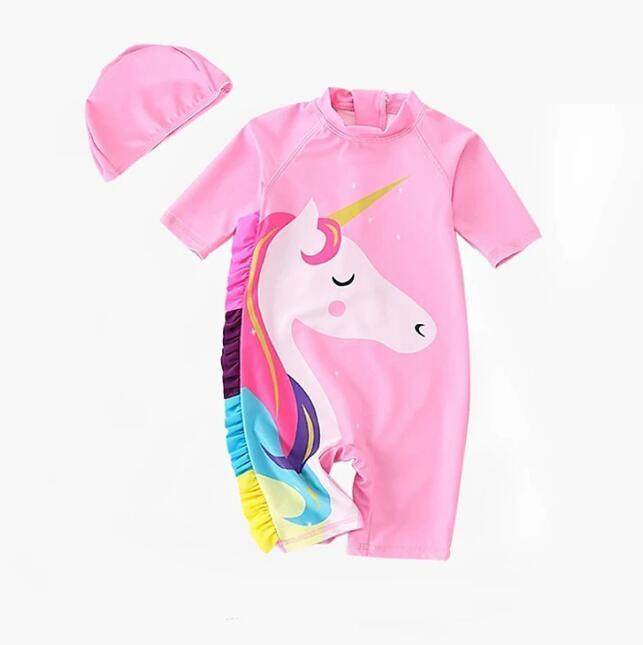 7af4d354df5b8 2019 Girls Unicorn Swimwear Baby Bathing Suit One Pieces Cartoon Children  Swimsuit Baby Swim Wear 2019 Summer Kids Clothing BY0870 From  Wuchaoqun1992, ...